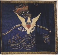 American Civil War Artifacts -                                                              33rd Indiana Infantry Regimental Flag
