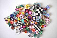 Destash 83 Polymer Clay beads Lot 10