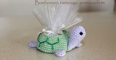 Favor turtle crocheted by FantasiediLisa on Etsy Baby Shower Favors, Shower Gifts, Lavender Bags, Crochet Keychain, Crochet Wedding, Crochet Toys, Etsy, Turtle, Diy And Crafts