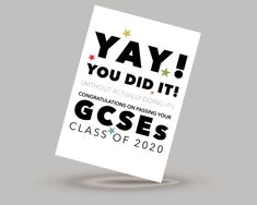 Class of 2020 GCSE exam congratulations card for the year when no one actually took their exams!   #gcses #gcses2020 #exams #congratulationscard #youdidit #classof2020 #graduation