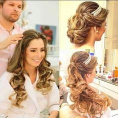 Lindo Bride Hairstyles, Cute Hairstyles, 98, Hair Dos, Bridal Hair, Marie, Fashion Beauty, Hair Makeup, Braids