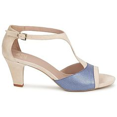 Sandalen Janet  Creme / Blauw