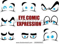 comic eye expression