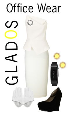 """""""Portal 2 Glados Office Wear"""" by say13579 ❤ liked on Polyvore featuring Roland Mouret, Delicious and Cara Accessories"""