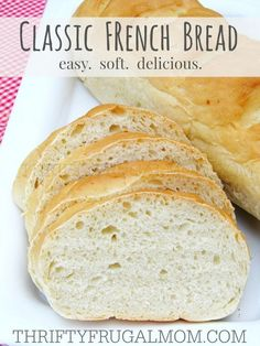 An easy homemade recipe for French bread that is perfectly soft with a deliciously chewy crust!  I love that it costs just a fraction of what I'd pay for an already made loaf.