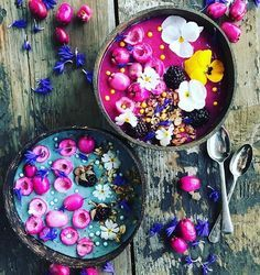 Dreaming of these amazing unicorn smoothie bowls @the_sunkissed_kitchen Visit our website: www.unicornsuperfoods.com to shop our Superfoods collection