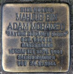 The only physical memorial to a black concentration camp victim, the actor Bayume Mohamed Husen (OTFW, Berlin)