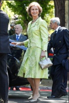Queen Sofia attend the celebration of the Army day at Plaza de la lealtad in Madrid, Spain on 1 June 2013