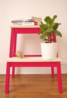DIY : une table de chevet acidulée