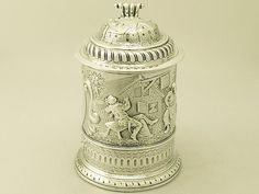 Antique George II Sterling Silver Quart Tankard (1732 London) by WILLIAM DARKER (c.1720-c.1750) from AC Silver   The UK's Premier Antiques Portal