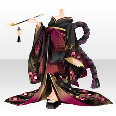 Puppeteer in Yukaku Anime Kimono, Anime Dress, Anime Girl Crying, Kimono Design, Cocoppa Play, Fashion Design Drawings, Model Outfits, Japanese Outfits, Drawing Clothes