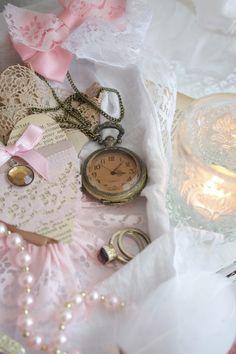 Vintage pocket watch vignette....nelly vintage home: