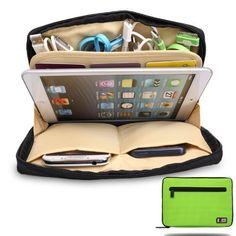 Electrónica Portable Universal Accesorios de viaje Organizador / Ipad Mini Estuche / Bolsa Organizador de cables (verde): Amazon.es: Electrónica