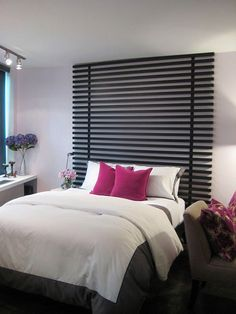 Bedroom. Chic Wooden Headboards Diy Ideas For Your Beds: Beautiful ...