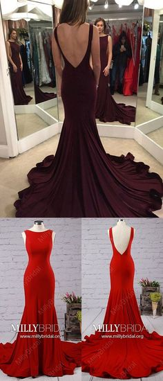 Long Prom Dresses,Burgundy Formal Evening Dresses,Mermaid Graduation Dresses Modest,Jersey Wedding Party Dresses Ruffles,Sexy Military Ball Dresses Backless #graduationdresses