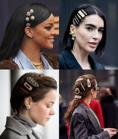 Haar Accessoires Haar Accessoires in 2020 Clip Hairstyles, Vintage Hairstyles, Pretty Hairstyles, Hair Jazz, Short Hair Accessories, Cabello Hair, Celebrity Hair Stylist, Madame, Hair Today