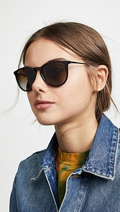 Erika Sunglasses - My Style - Ray Ban Erika Sunglasses, Cute Sunglasses, Sunglasses Women, Wayfarer Sunglasses, Ray Ban Wayfarer, Celebrity Casual Outfits, Celebrity Style, Ray Ban Hombre, Ray Ban Mujer