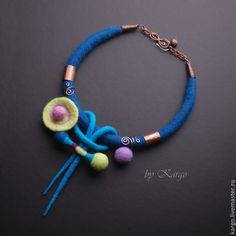 Felted necklace by Kargo