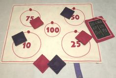 Handmade target fabric game! Circus & unicorn theme and felt details! Girls gift! by DVSparkS on Etsy