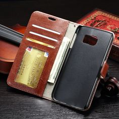 For Samsung Galaxy S7 G9300 5.1'' Retro Luxury Crazy horse Leather Case With Photo frame Card holder Wallet Cover