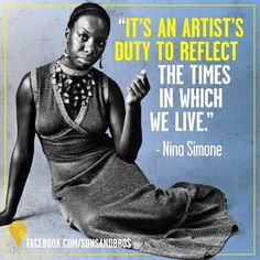 Nina Simone quote from Art gives me life facebook.