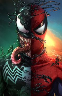 Marvel Comics. Comic Book Artwork • Spider-Man / Venom by David Tuff. Follow us for more awesome comic art, or check out our online store www.7ate9comics.com Spiderman Pictures, Spiderman Art, Amazing Spiderman, Venom Spiderman, Anti Venom Marvel, Venom Pictures, Batman Comic Art, Venom Comics, Marvel Comics Art