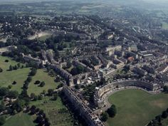 Royal Crescent and Queen Victoria Park, City of Bath, England- this is the city where the book is based