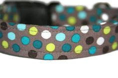 Blue and Green Polka Dot Dog Collar by ALeashACollar on Etsy Handmade Dog Collars, Handmade Gifts, Polka Dots, Trending Outfits, Unique Jewelry, Dogs, Green, Blue, Vintage