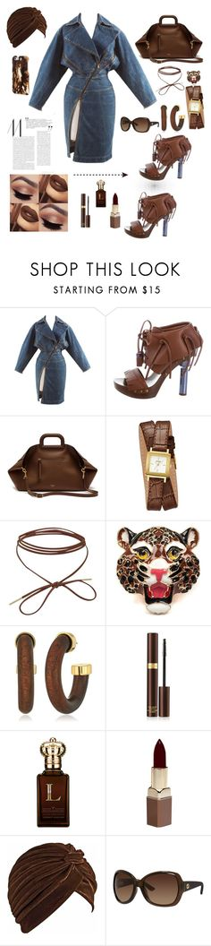 """Denim!"" by yaya-doll ❤ liked on Polyvore featuring Alaïa, Louis Vuitton, Mulberry, GUESS, Irregular Choice, Kenneth Jay Lane, Tom Ford, Clive Christian, Fashion Fair and Gucci"