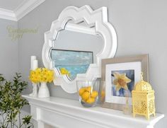 Love the frame on this mirror