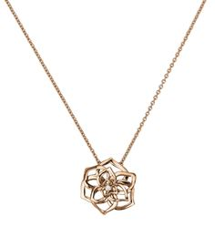 Piaget Rose pendant in 18K rose #gold, set with one brilliant-cut #diamond (approx. 0.06 ct).