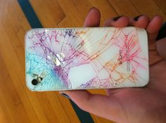 Cracked rainbow iphone. If mine ever breaks I'll defenetly try this!
