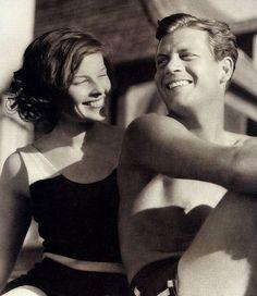 Katharine HepburnandJoel McCrea, 1930s. I love her hair here!
