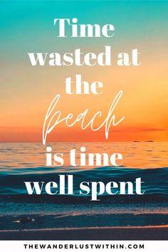 Cute Beach Quotes, Short Beach Quotes, Summer Beach Quotes, Beach Sayings, Cute Quotes For Instagram, Instagram Funny, Instagram Caption, Instagram Beach Captions, Good Beach Captions
