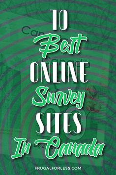 The 10 best online survey sites in Canada to win extra money online from home. Make Money Taking Surveys, Online Surveys For Money, Earn Money From Home, Online Jobs, How To Raise Money, Make Money Online, Best Online Survey Sites, Monthly Budget Planner, Mo Money