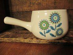 AWESOME Vintage Retro Mid Century Modern Atomic Flower Art Pottery Pot Handle | eBay