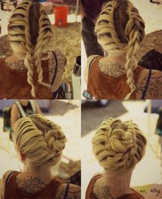How-To Hair Girl   2 Easy Fair Hairstyles from #bethefair 2015 #diyhair #braid#hthg