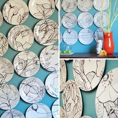 DIY Sharpie Projects • Lots of really great ideas & tutorials! Including this Anthropologie inspired DIY sharpie art from 'east coast creative'.