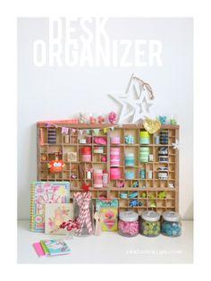 isabo, washi tape desk organizer
