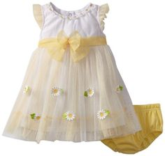 Pin it! :) Follow us :)) zBabyBaby.com is your Baby Gallery ;) CLICK IMAGE TWICE for Pricing and Info :) SEE A LARGER SELECTION of baby girl dresses at zbabybaby.com/... - baby, infant, nursery, baby shower, baby stuff, baby gear, toddler, toddler stuff, baby girl dresses, baby clothes - Nannette Baby-Girls Infant 2 Piece Knit Dress & Panty, Lemon Juice (Yellow), 18 Months « zBabyBaby.com