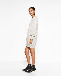 Image 3 of WIDE CUT PLUSH DRESS from Zara