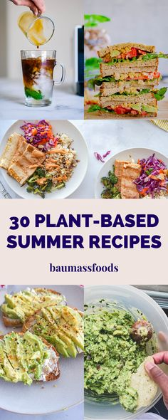 These 30 Favorite Plant-Based Summer Recipes include a mix of drinks, frozen treats, dips and main meals guaranteed to satisfy you all summer long. #summerecipes #veganrecipes #plantbasedsummerfood #bestmeatfreerecipes Vegan Bbq Recipes, Summer Vegetarian Recipes, Summer Recipes, Gourmet Recipes, Vegetarian Meals, Vegan Dinners, Easy Vegan Dinner, Plant Based Recipes, Main Meals