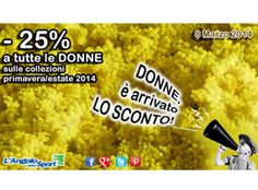 Festa della donna 2014. Grafiche, claim, evento. #grafica #claim #marketing #festadelladonna #8marzo #promozione #negozio