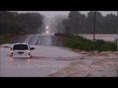 Washita River Flooding Davis Oklahoma - YouTube