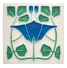 Motawi Tileworks meticulously constructs tile art that translates into statement-making decor. The ceramic art tiles are adorned with charming designs. Motifs Art Nouveau, Azulejos Art Nouveau, Art Nouveau Flowers, Art Nouveau Tiles, Art Nouveau Design, Ceramic Design, Ceramic Art, Artistic Tile, Vintage Tile