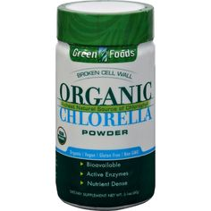 Green Foods Organic Chlorella Powder Description: Chlorella, one of the oldest ewhole foode supplements, is treasured throughout Asia for its nutritive and restorative properties. Our special method o