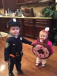 Sibling Costumes... Cop and a donut