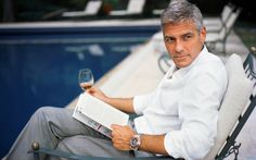 Hot Guys Reading: George Clooney, AND he looks classy doing it. So handsome :) George Clooney, Amal Clooney, Kentucky, Good Books, Books To Read, Reading Books, Reading Art, Reading Time, Hot Guys