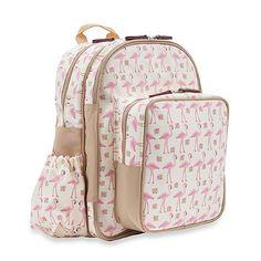 Pink Lining Wanderlust Rucksack Flamingo Walk Backpack Diaper Bag in Cream/Pink