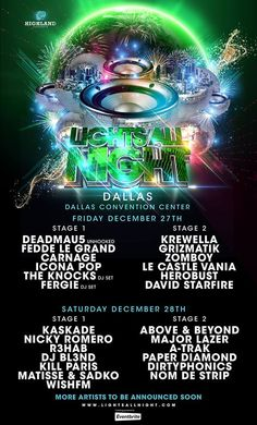 Lights All Night 2013 Lineup was just announced! View all the festival details here!